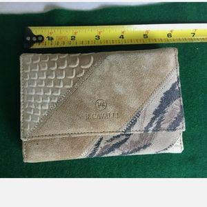 🆕Cavalli Wallet Genuine Leather Suede Wallet